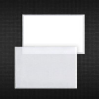 High-quality clear vinyl pouch with adhesive backing. Don't settle for inferior products sold by other suppliers! Theirs has a 6-gauge front with a 4-gauge adhesive back. We use heavy 8-gauge clear material on the front with a 6-gauge adhesive back on an 80# release liner to help prevent wrinkling and curling.