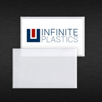 These clear vinyl adhesive backed sleeves are custom designed to fit a standard sized business card. The opening is on the short side and the adhesive is strong enough to adhere securely to catalogs, shelving or price racks. There are many uses for these high-quality products!