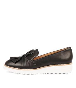 OCLEM Flatforms in Black Leather