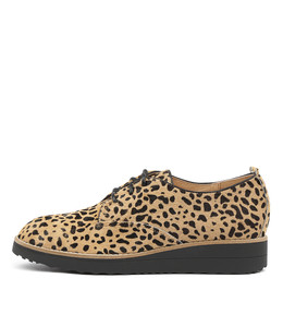 OLEN Flatforms in Tan Ocelot Pony Hair