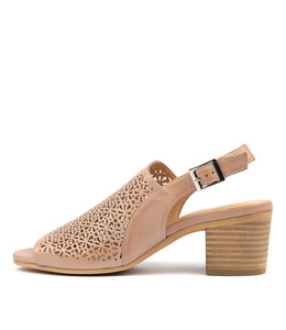BLANE Heeled Sandals in Rose Leather