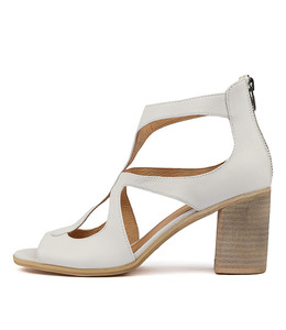 WINFOLM Heeled Sandals in White Leather