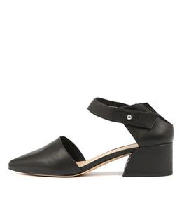 OSBALDO Mid Heels in Black Leather