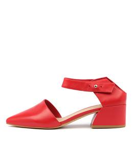 OSBALDO Mid Heels in Red Leather