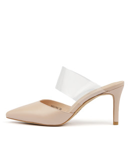 BOLLING High Heels in Blush Leather/ Clear Vinylite