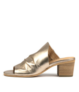 BRANCH Heeled Sandals in Champagne Leather