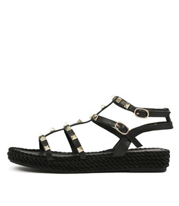 RAELYN Sandals in Black Leather