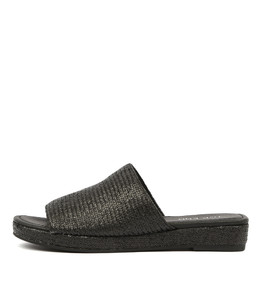 RANDALL Sandals in Black Raffia