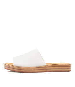 FARON Sandals in White Leather