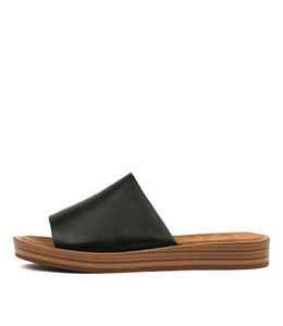 FARON Sandals in Black Leather