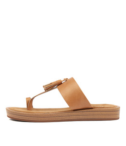 FESTUS Sandals in Tan Leather