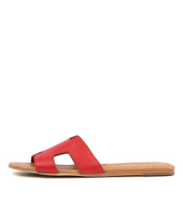 LEAMON Sandals in Red Leather
