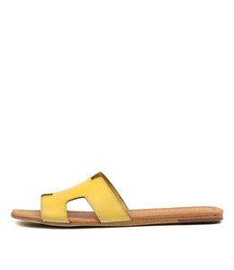 LEAMON Sandals in Yellow Leather