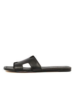 LEAMON Sandals in Black Leather