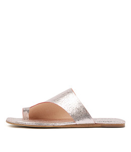 LENE Sandals in Rose Metallic Crumble Leather