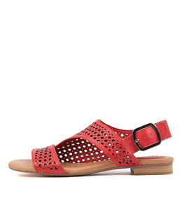 POSSESSED Sandals in Red Leather