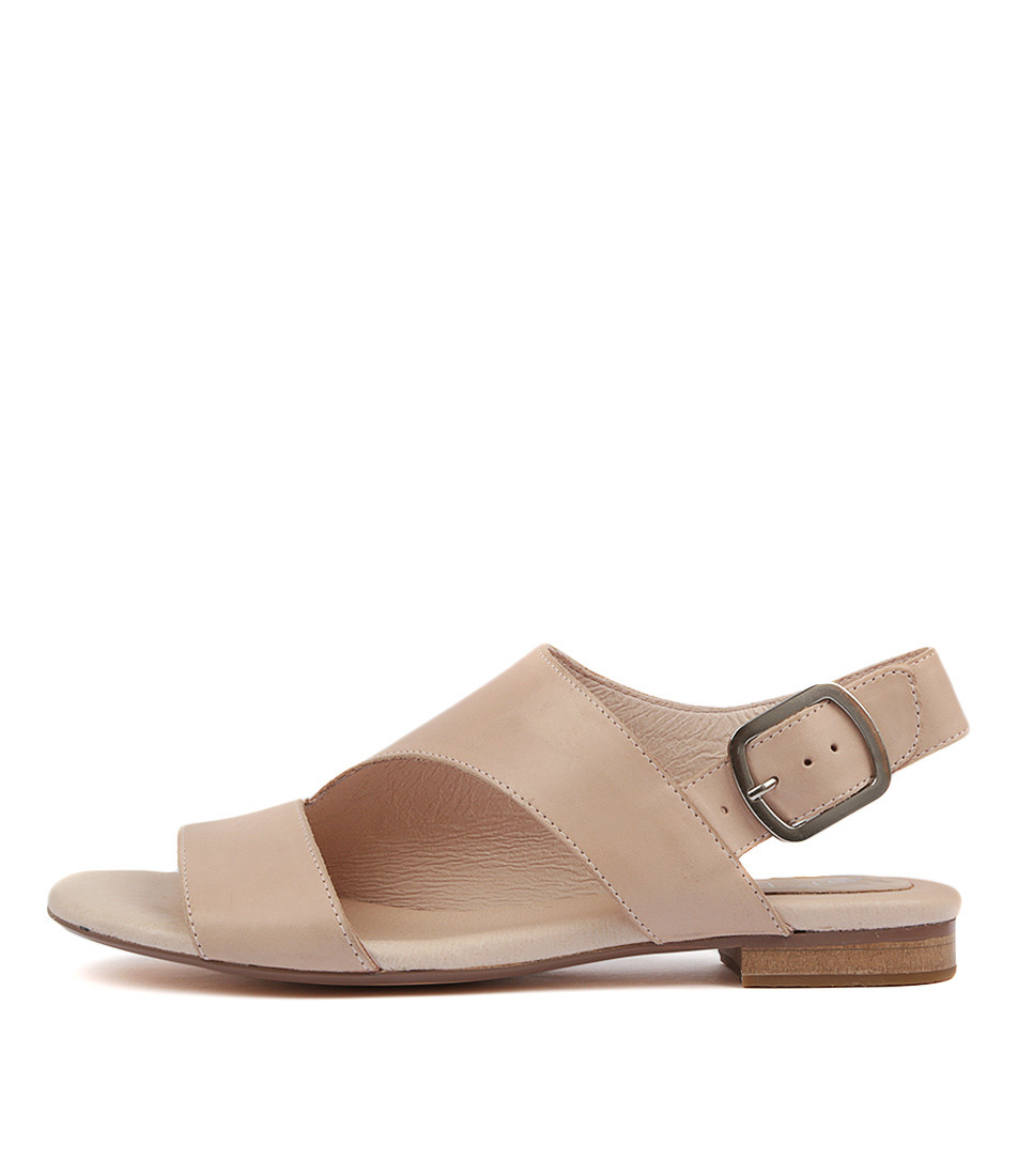 3ff5315c4beba POLITELY Sandals in Nude Leather - Top End Shoes