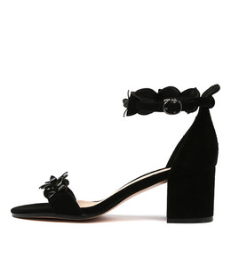 RAYMON Heeled Sandals in Black Suede
