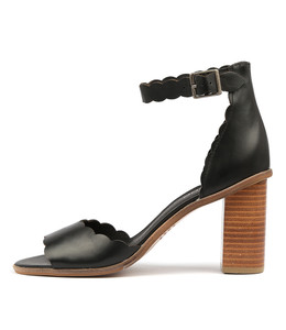 ZAVIER Heeled Sandals in Black Leather