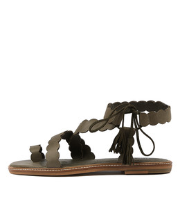 NIKOLAS Sandals in Khaki Leather