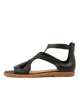 NATOSHA Sandals in Black Leather