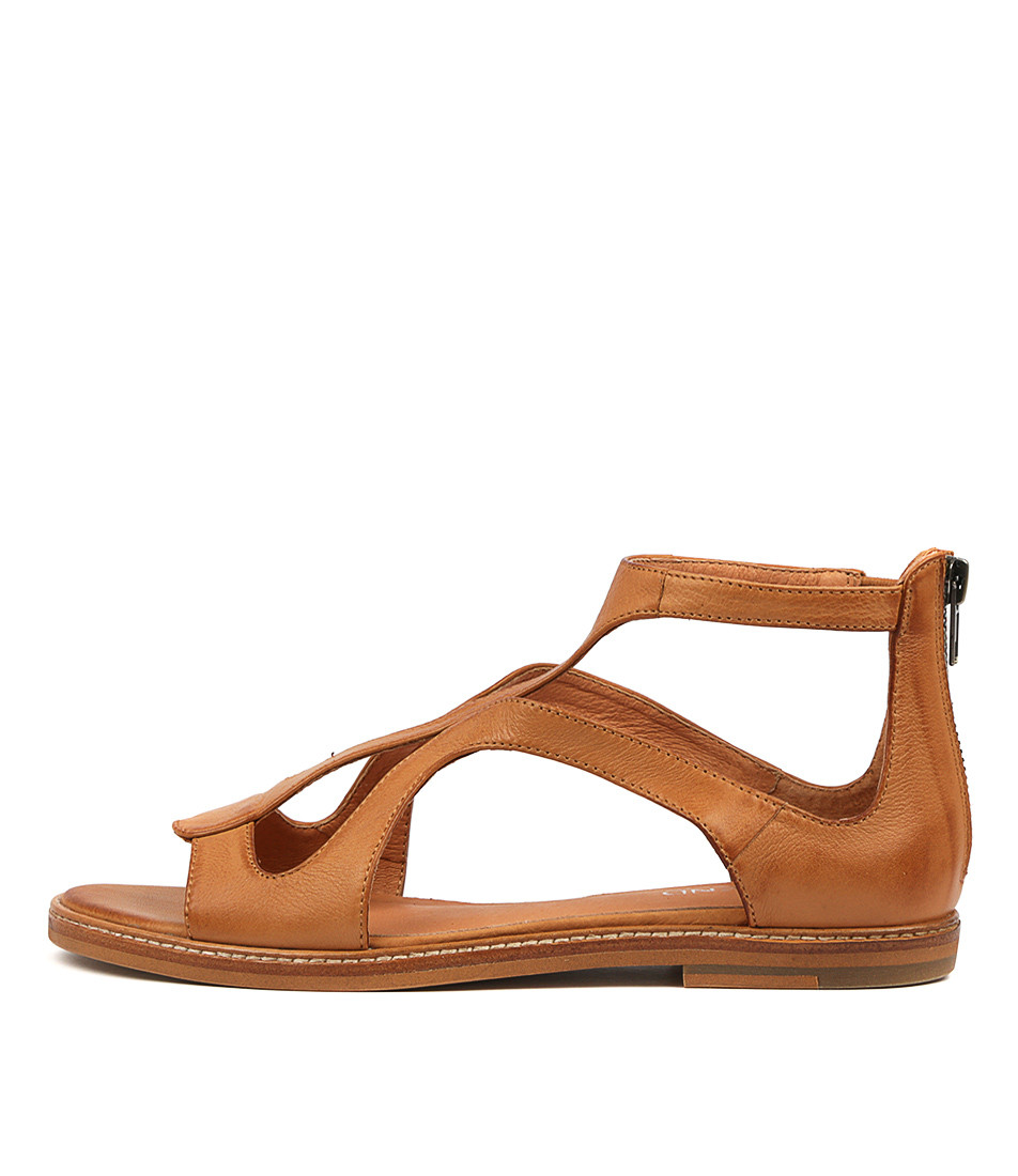 834395b845236 NATOSHA Sandals in Dark Tan Leather - Top End Shoes