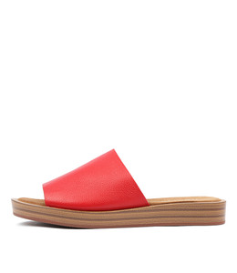 FARON Sandals in Red Leather