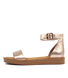 FERD Sandals in Rose Gold Leather