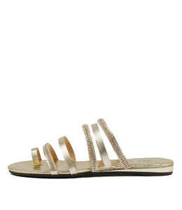 SHARDAY Sandals in Pale Gold Leather