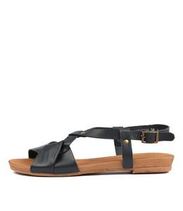 CATINA Sandals in Navy Leather