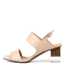 SHENTEL Heeled Sandals in Blush Leather