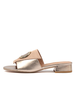 DAISIE Sandals in Cafe/ Champagne Leather
