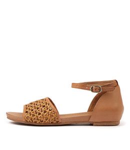 CHIMERE Sandals in Tan Weave/ Leather