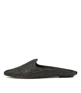 REYNOLD Flats in Black Raffia