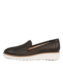 ORVEL Flatforms in Black Leather