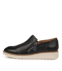 OTILIA Flatforms in Navy Leather