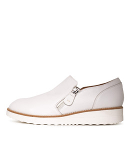 OTILIA Flatforms in White Leather