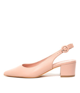 ABIGALE Mid Heels in Blush Leather
