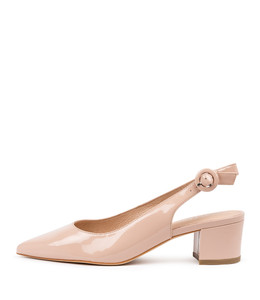 ABIGALE Mid Heels in Nude Patent Leather