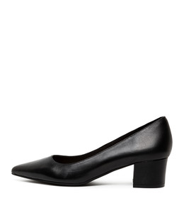 ALGER Mid Heels in Black Leather