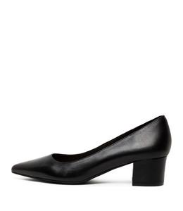 ALGER Mid Heels in Black Leather