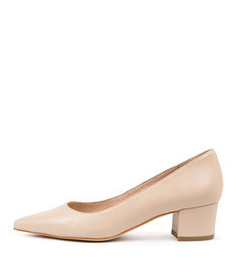 ALGER Mid Heels in Nude Leather
