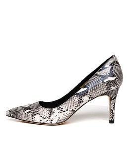 BARRIOSA High Heels in Black/ White Python Leather