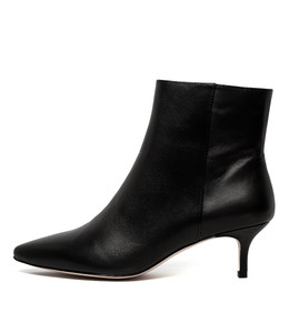 COLEY Ankle Boots in Black Leather