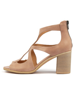 WINFOLM Heeled Sandals in Nude Leather
