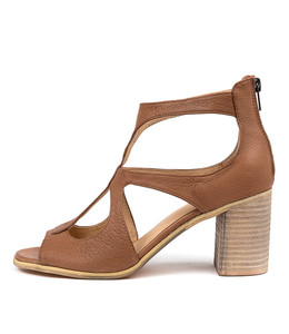 WINFOLM Heeled Sandals in Cognac Leather