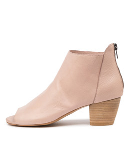 BREAK Heeled Ankle Boots in Rose Leather