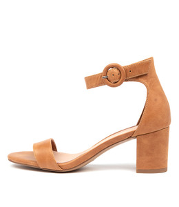 GRAFTONS Heeled Sandals in Tan Leather