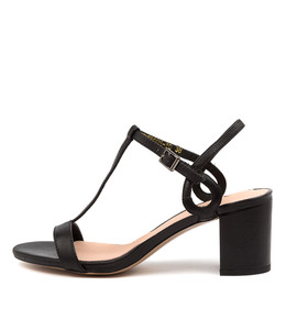 GENEROUS Heeled Sandals in Black Leather