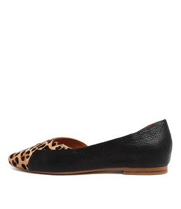SARA Flats in Ocelot/ Multi Leather